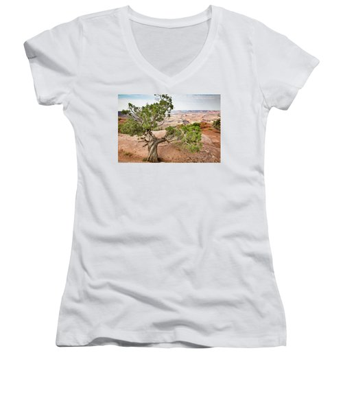 Juniper Over The Canyon Women's V-Neck