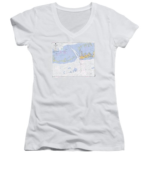 Key West Harbor And Approaches, Noaa Chart 11441 Women's V-Neck