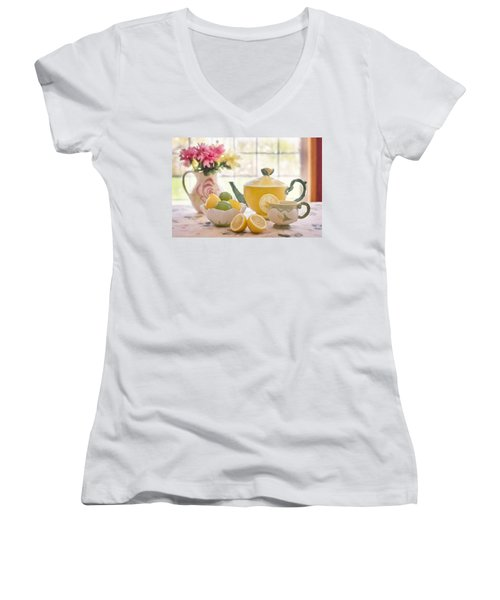 Lemon Tea  Women's V-Neck