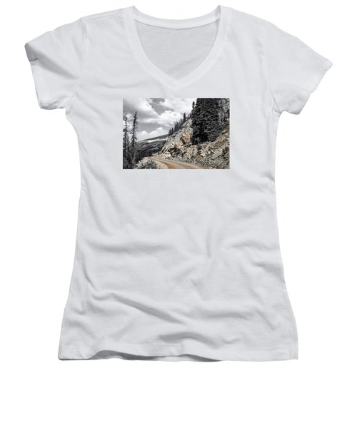 Living On The Edge Women's V-Neck