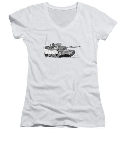 M1a1 C Company Commander Tank Women's V-Neck