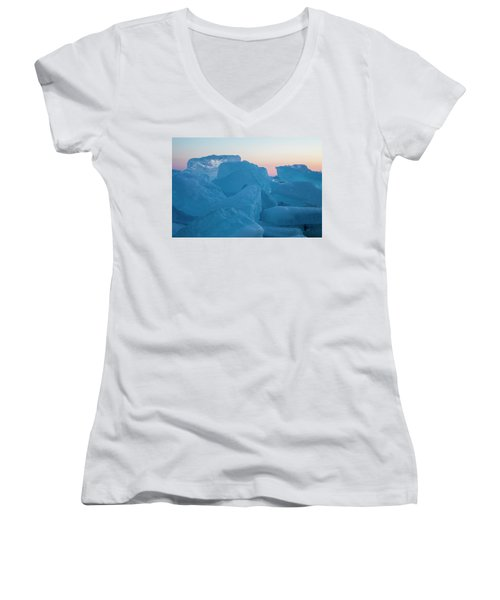 Mackinaw City Ice Formations 2161804 Women's V-Neck