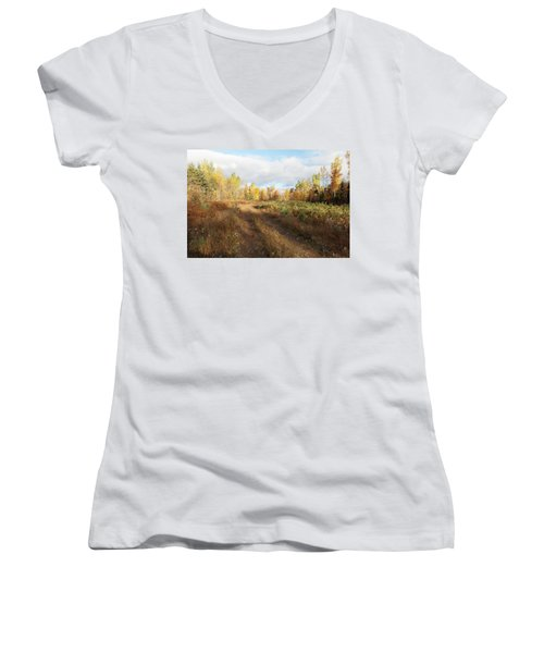 Women's V-Neck featuring the photograph Maine Wilderness Color by Rick Hartigan