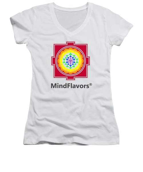 Mindflavors Original Medium Women's V-Neck