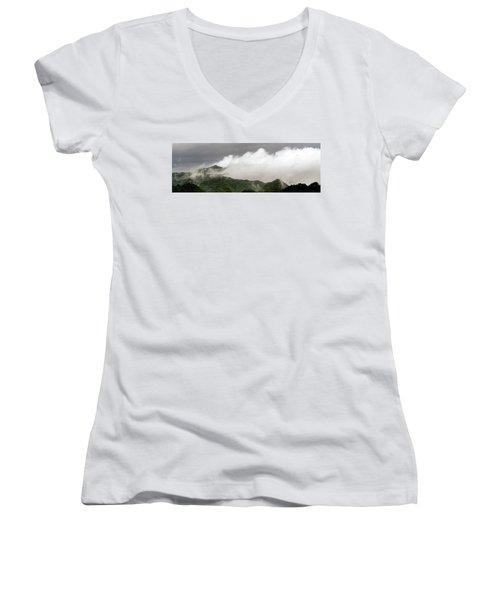 Misty Mountains II 3x1 Women's V-Neck