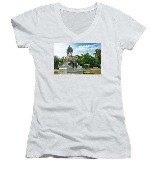 Monument To General Arsenio Martinez Campos In Madrid, Spain Women's V-Neck
