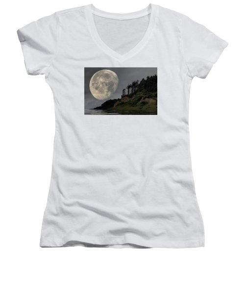 Moon And Beach Women's V-Neck