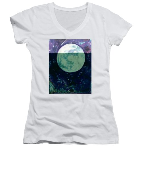 Moon  Women's V-Neck