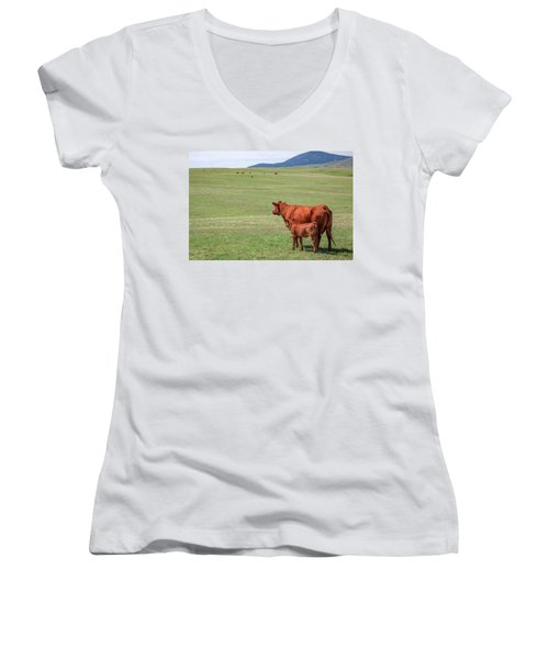 Mother And Daughter Women's V-Neck