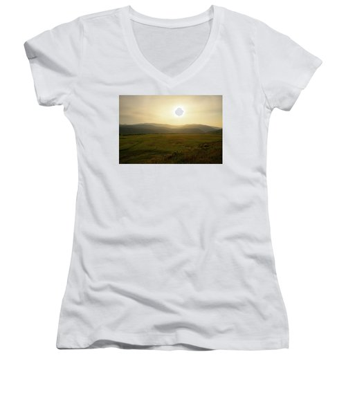 Mountains At Dawn Women's V-Neck