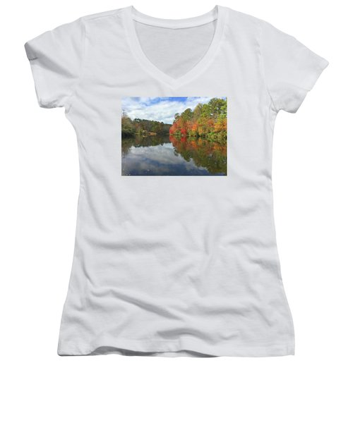 Natures Colors Women's V-Neck