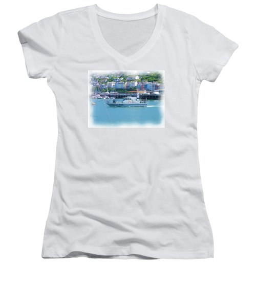 Naval Vessel Women's V-Neck