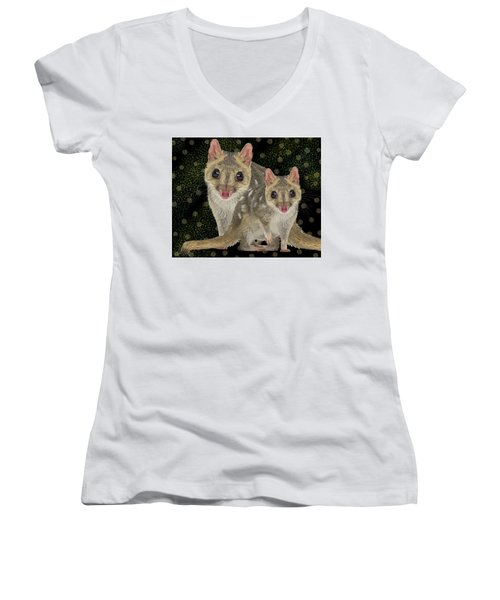 Northern Quoll 3 Women's V-Neck
