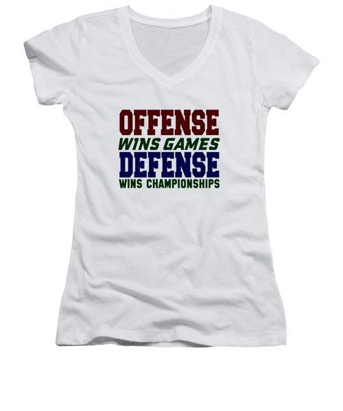 Offence Defense Women's V-Neck