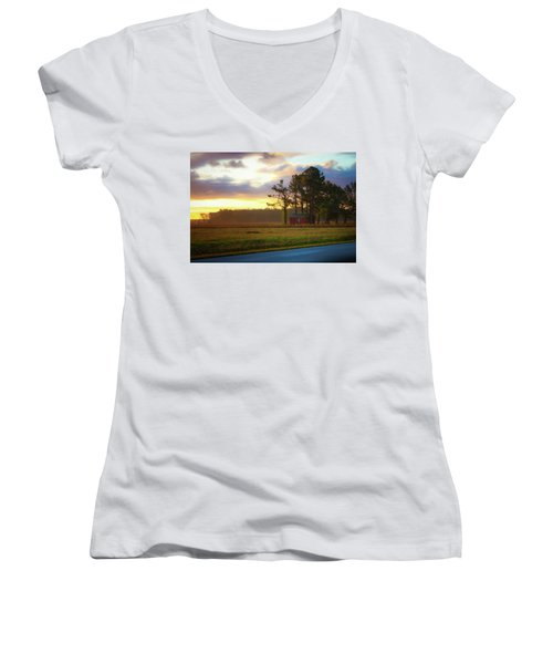 Onc Open Road Sunrise Women's V-Neck