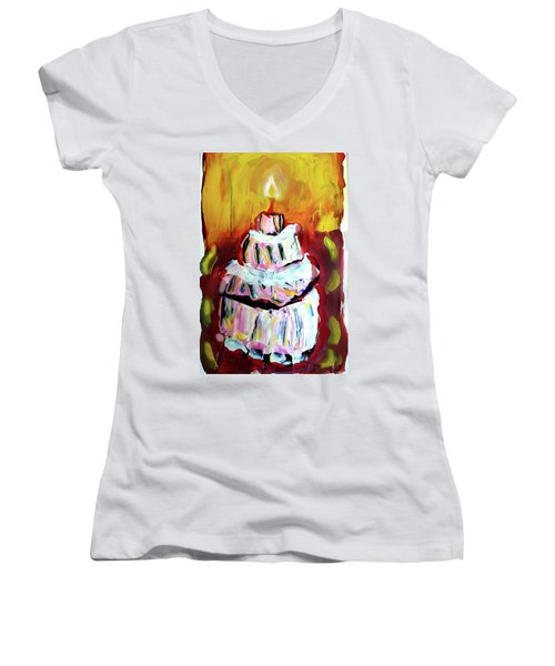 One Candle Women's V-Neck