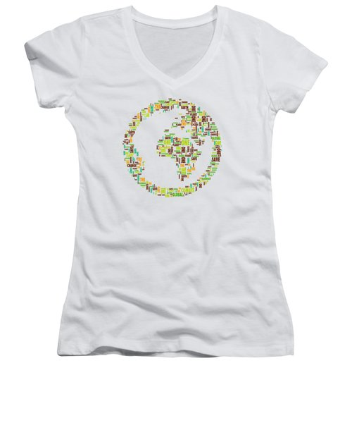 One Planet Women's V-Neck