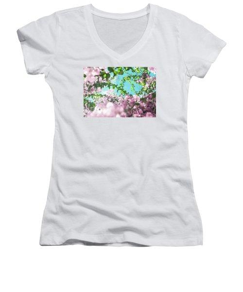 Floral Dreams II Women's V-Neck