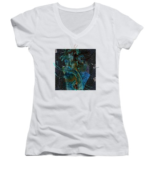 Peacock Feathers Women's V-Neck