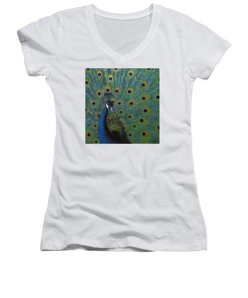 Peacock Women's V-Neck