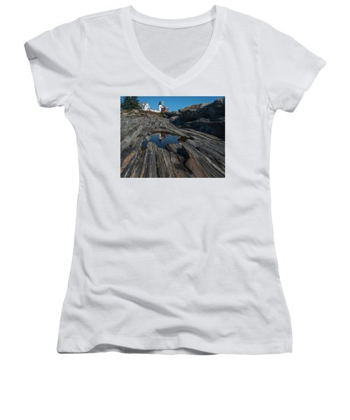 Women's V-Neck featuring the photograph Pemaquid Lighthouse by Rick Hartigan