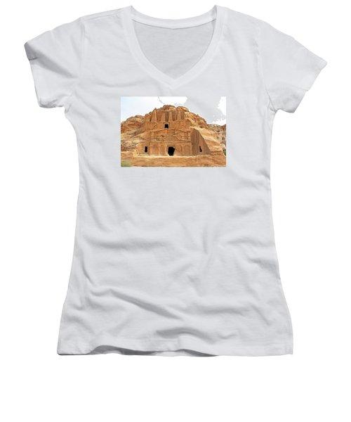 Petra, Jordan - Cave Dwellings Women's V-Neck