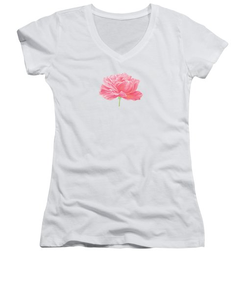 Pink Rose Women's V-Neck