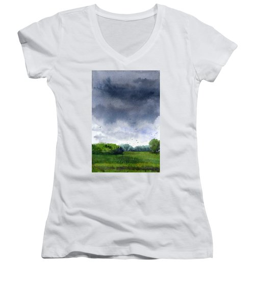 Rains Coming Women's V-Neck