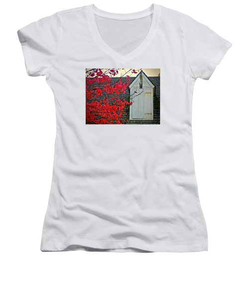 Red... Women's V-Neck (Athletic Fit)