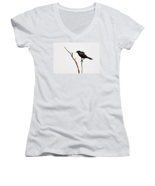 Red Winged Blackbird Women's V-Neck