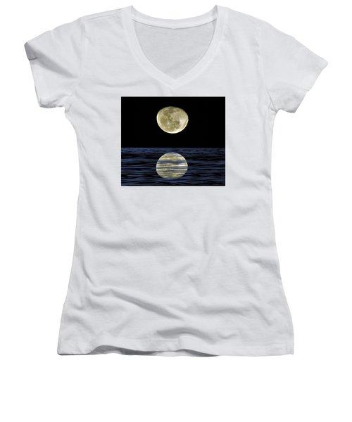 Reflective Moon Women's V-Neck