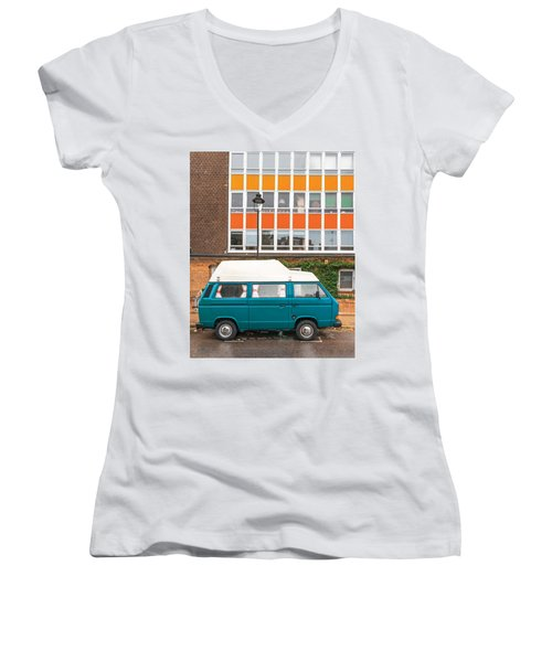 Retro Vibes Women's V-Neck