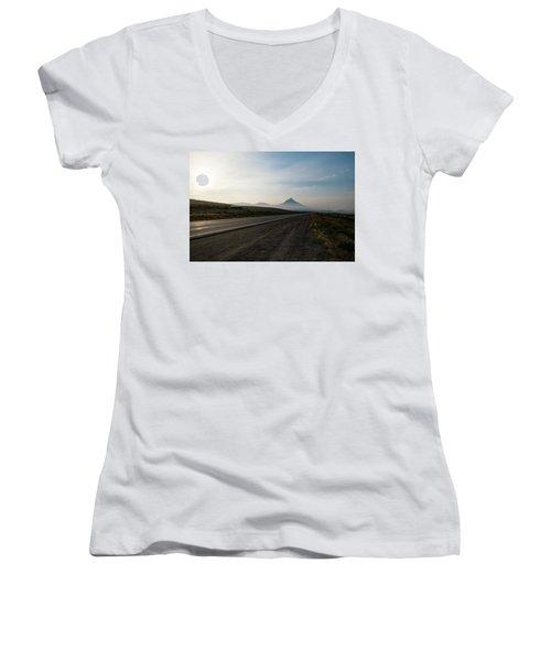 Road Through The Rockies Women's V-Neck