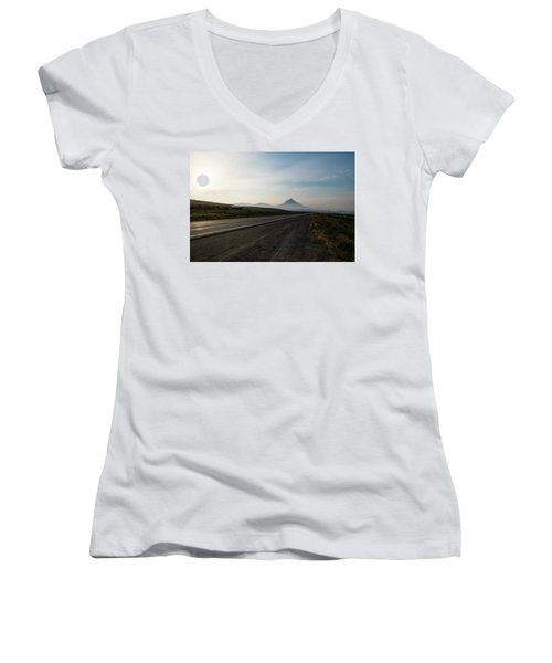 Road Through The Rockies Women's V-Neck