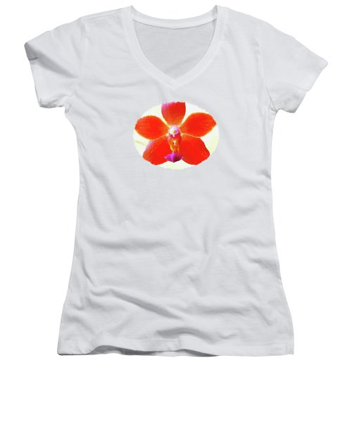 Screenplay Of An Orchid  Women's V-Neck (Athletic Fit)