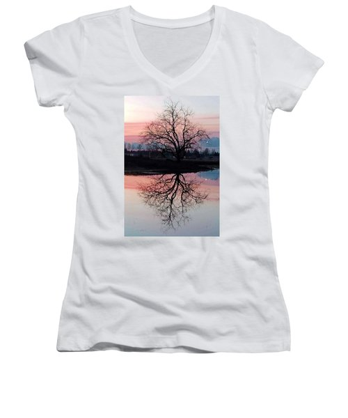 Serenity At Sunset Women's V-Neck