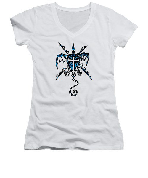 Shield Wing And Spears Women's V-Neck