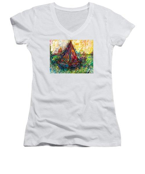 Ship In Color Women's V-Neck