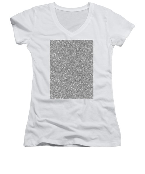 Silver Glitter  Women's V-Neck