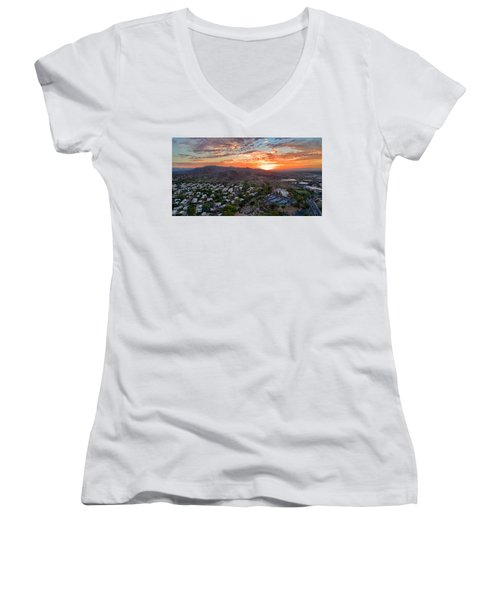 Sky Art Women's V-Neck
