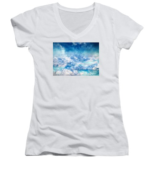 Sky Moods - A View From Above Women's V-Neck