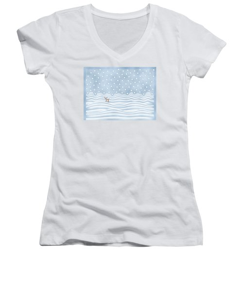 Snow Day Women's V-Neck (Athletic Fit)
