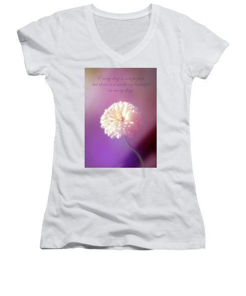 Something Beautiful In Every Day Women's V-Neck