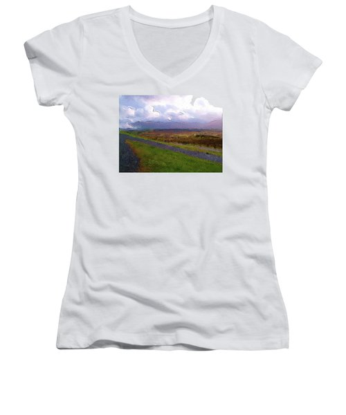 Spean Bridge Painting Women's V-Neck