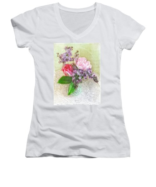 Spring Song Floral Still Life Women's V-Neck
