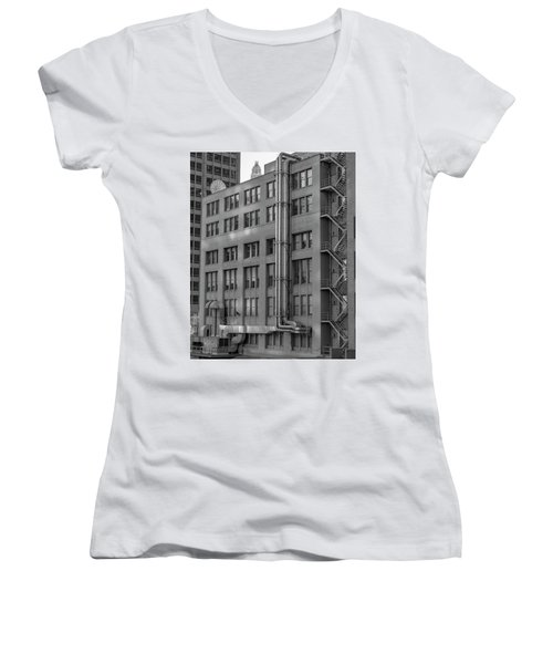 Squares And Lines Women's V-Neck