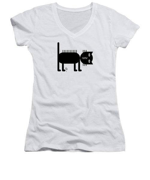 Standing Cat Women's V-Neck