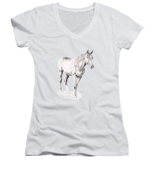 Standing Racehorse Women's V-Neck
