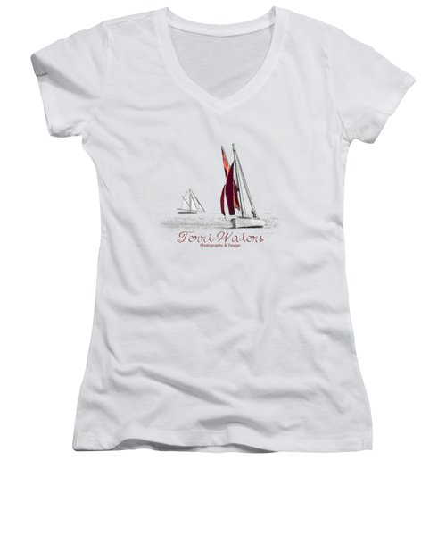Terri Waters Photography And Design Logo Women's V-Neck
