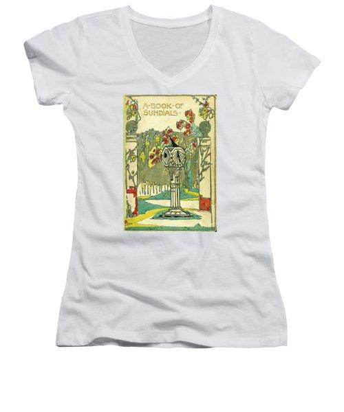 Cover Design For The Book Of Old Sundials Women's V-Neck